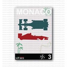 2012 Monaco Grand Prix Formula 1 Racing Reproduction Poster