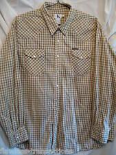 CALVIN KLEIN Mens Western Cowboy Rodeo Pearl Snap Cotton Shirt Sz Mens XL NEW