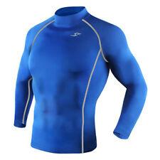 Take Five Mens Skin Tight Compression Base Layer Running Shirt S~2Xl Blue 039
