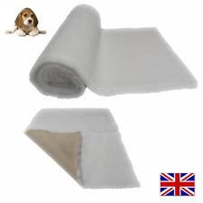 White Vet Bedding NON-SLIP ROLL WHELPING FLEECE DOG PUPPY PRO BED