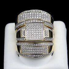 Set 1.34Ct 10k Solid Gold Round D/Vvs1 Engagement Bridal Wedding Trio