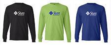 Sun Microsystems Logo Computer Geek Long Sleeve T shirts  Hanes