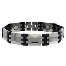 Men Women 13MM Tungsten CarbideTwo Tone Link Magnetic Bracelet