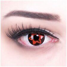 Farbige rote Kontaktlinse MIT Stärke Sasukes Mangekyu Behälter für Halloween