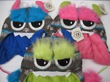 NEW Soft Fleece Lined Fuzzy Monster Winter Snow Ski Hat Cap Beanie Kids Youth