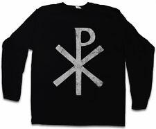 CHI RHO SYMBOL LANGARM T-SHIRT ? XP Ichtys Kaiser Jesus Christ Pax Christi