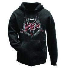 Official Slayer - Pentagram - Men's Black Pullover Hoodie