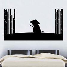 Bambo Samurai de vinilo de etiquetas de pared arte Ninja japonés Oriental Espada