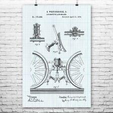 Locomotive Train Air Brake Poster Print Engineering Art Mechanic Gift