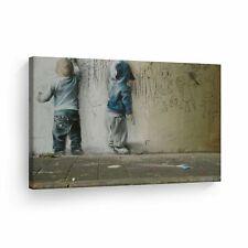 Banksy Art Kids Are Painting Graffiti Wall Art Wall Art