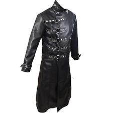 Gótico Para Hombre Abrigo auténtico cuero negro steampunk VAN HELSING - T19