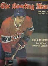 The Sporting News, 2/1/75, Hockey, magazine, Guy Lafleur, Montreal Canadiens