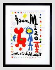 ADVERT EXHIBITION CULTURAL JOAN MIRO PAINT SURREALISM FRAMED ART PRINT B12X4397