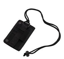 Tactical Id Card Holder Hook & Loop Molle Badge Neck Lanyard Key Ring Organizer