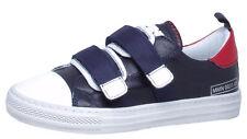 Sneaker von Momino 4010 Teen Sport Halbschuhe Leder Blau Gr. 31  - 38 Neu