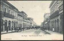 Brazil Postcard Sao Paulo Rue Florencio De Abreu I 1900 & Tramway L@@K