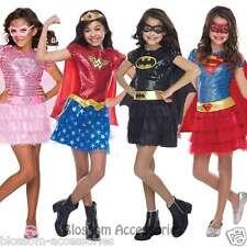 CK509 Deluxe Sequin Superhero Hero Toddler Girl Fancy Dress Up Book Week Costume