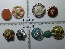 1 lotto bottoni gioiello strass smalti perle vetro buttons boutons vintage g12