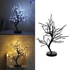48leds Xmas Fairy Light Plum Blossom Lamp Light-up Flower Tree Light Bonsai Lamp