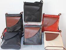 Soft Touch Borse in Pelle Italian Leather Crossbody Handbag, Adjustable strap
