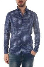 Camicia Daniele Alessandrini Shirt -45% Uomo Blu C1614B10863601-