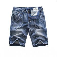 FOX JEANS Men's Julian Casual Blue Denim Shorts- Size 32-44