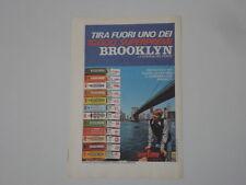 advertising Pubblicità 1972 BROOKLYN CHEWING GUM