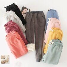 Women Winter Sweatpants Fleece Sport Pants Casual Lined Harem Trouser Drawstring