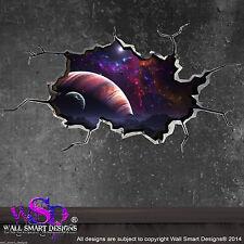 Espace METEOR astéroïde monde craquelé 3D-Art Mur Autocollant Decal Mural Garçons 13