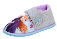 Disney Frozen 2 Girls Light Up Slippers Elsa Anna Kids Fleece Lined House Bootie