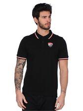 2017 Official Ducati Corse Black Polo Shirt  - 17 16002