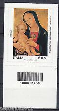 ITALIA 2011, NATALE, MADONNA CON BAMBINO , CODICE A BARRE 1438, MNH ** A71 LEGGI
