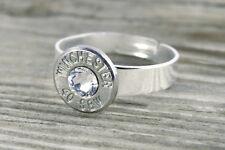 40 Caliber Nickel Bullet Adjustable Ring Pistol Custom Bullet Jewelry FREE SHIP