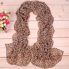 160 50 cm Pelle di leopardo stampa Moda Donna Chiffon Sciarpa scialli da donna X007