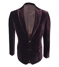 Brioni Men's Red Cotton & Silk Jacket Bracciano Regular fit, size 48,50,52,56