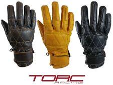 TORC Silverlake Motorcycle Premium Leather Goatskin Retro Gloves  Diamond Stitch
