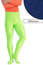 Herren Leggings mit Fuss marine Voltigierhose Glanz elastisch Größen S bis XXL