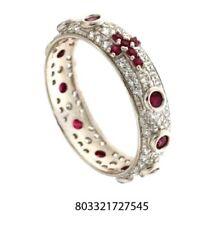Anello rosario argento 925 zirconi brillanti Bianco Rosso rodiato anallergico