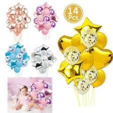 14pcs/set Wedding Birthday Balloons Latex Confetti Foil Kids Boy Girl Baby Party