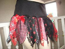 NUOVO Nero Rosso Bianco Spot controllo petalo pizzo goth fata Rock Tutu skirt-all Taglie