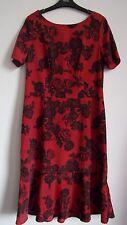 Next Red Floral Print Dress 6 Reg/10 Tall/14 Tall  RRP £26
