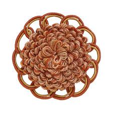 "Decorative Rosette 2.5"", RUST GOLD / Baroque Collection Style# BR Color: CINNAMO"