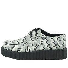 T.U.K. A8580 TUK Shoes Mondo Lo Creepers Nero Bianco Grigio Digi