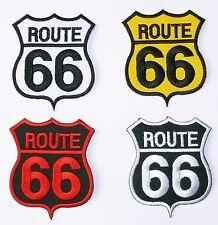 Patch Patch aufbügler: Route 66 emblema, Biker advertidos Trucker estados unidos sotana chaqueta
