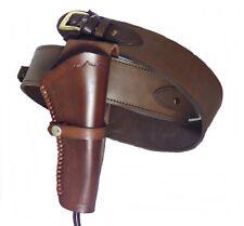 Gürtel + Holster Westernholster mit Patronenschlaufen Rindsleder braun