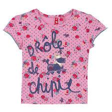CHIPIE T-Shirt rosa Logo Hund Rosen gepunktet mit Logos  62 68 87 80 86 92  NEU