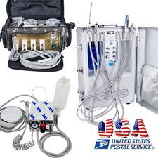 4H Mini/Bag /Suitcase Dental Clinic Teeth Treatment Machine w Compressor Syringe