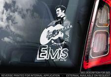 Elvis Presley - Car Window Sticker - The King Rock & Roll Music Sign Decal - V02
