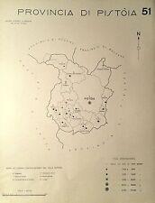 1938 COMUNI PROVINCIA PISTOIA CARTA TOPOGRAFICA Agliana Larciano Pescia Tizzana