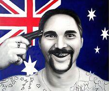 A2 Australia Flag Chooper Read Print Gun Gangsta Art Painting